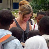 Adele Imrie Reading To Children